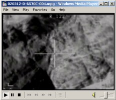 Video showing March 10, 2002, F-14 airstrike on al Qaeda forces dug into positions near the 'Whaleback'
