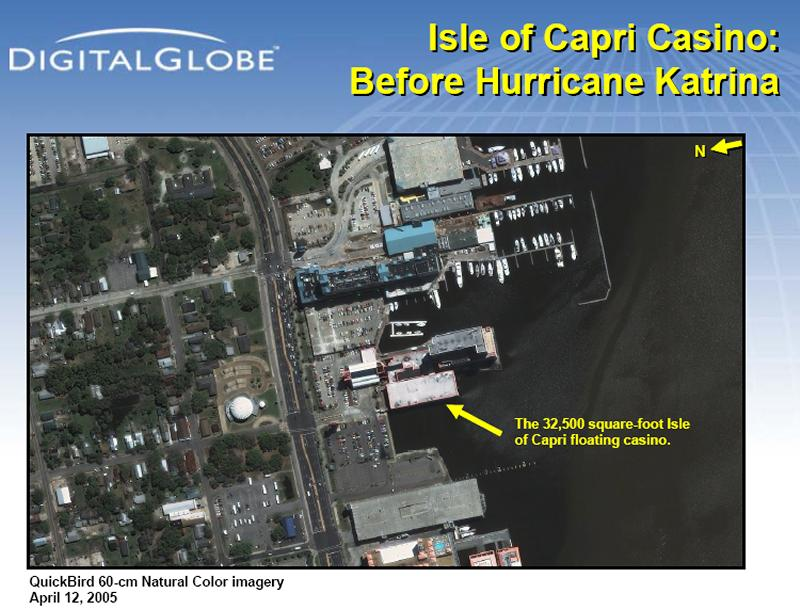 Satellite Images Of Casino Row Biloxi Mississippi Before And