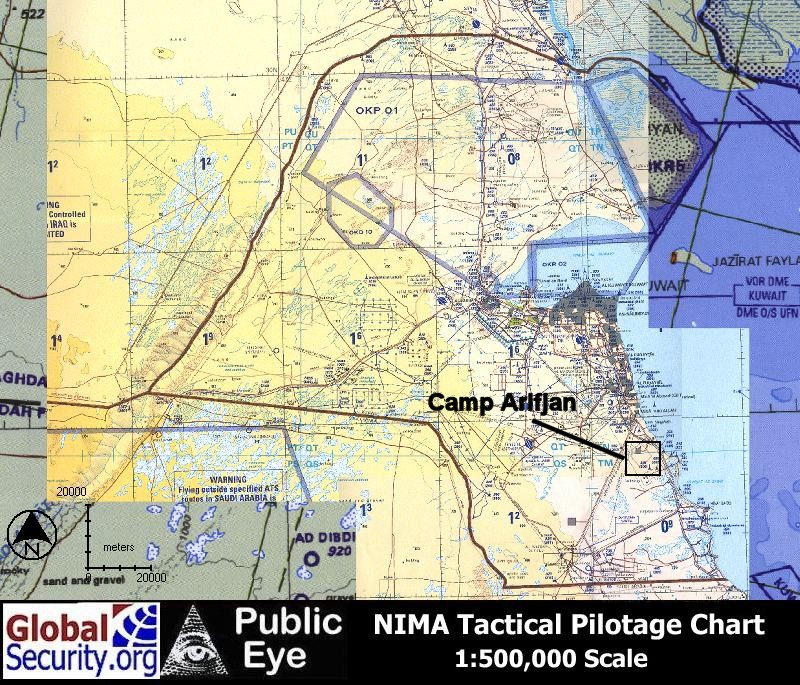 Camp Airifjan Imagery - Us bases in kuwait map
