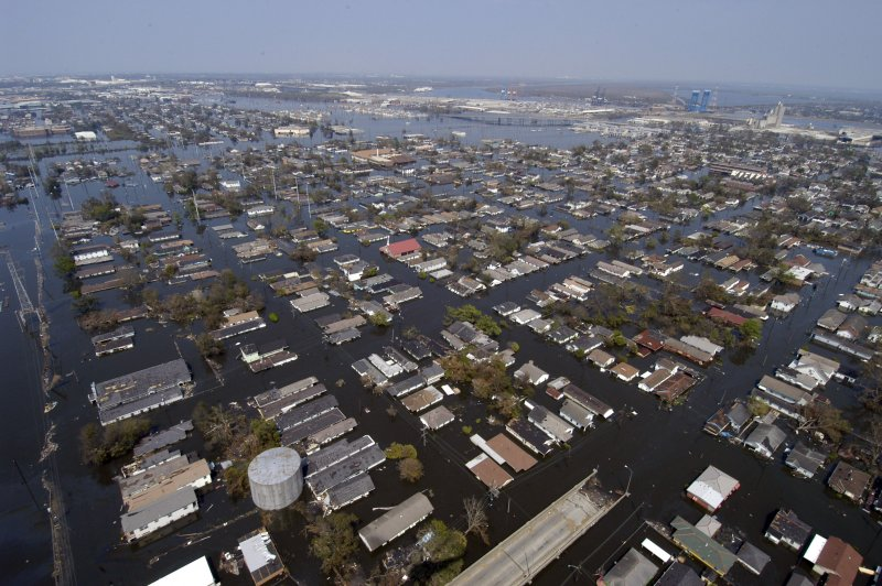 Images of Flooding in New Orleans after Hurricane Katrina