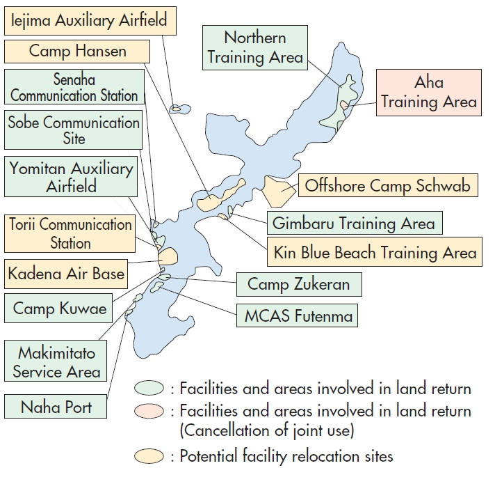 Japan Facilities - Us bases in japan map