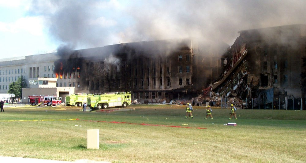View of the Pentagon after the September 11, 2001 terrorist attacks