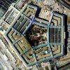 Space Imaging's IKONOS satellite one-meter resolution image of the Pentagon under repair.