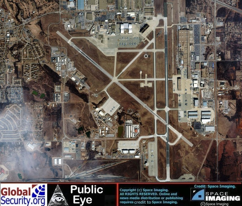 Satellite Imagery of Tinker AFB, Oklahoma