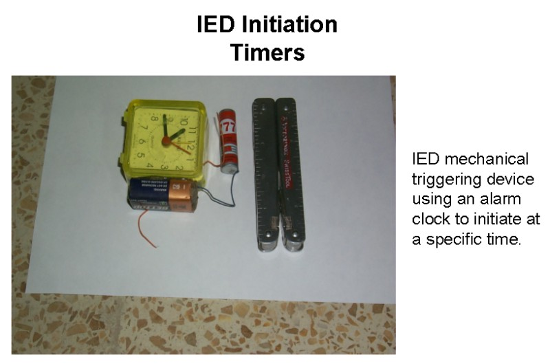 Improvised Explosive Devices (IEDs) / Booby Traps