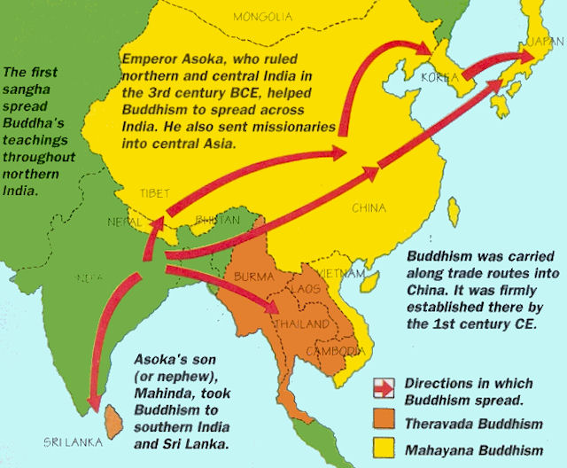 spread of buddhism throughout china essay It is believed that buddhism spread to china through the silk road when the silk road opened in the 2nd century bc, missionaries and pilgrims spread.