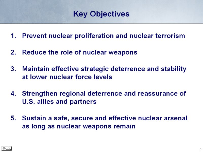 an introduction to the nuclear posture review npr Introduction there exists a recognized need for the united states to codify its  nuclear weapons posture in the form of a nuclear posture review (npr.