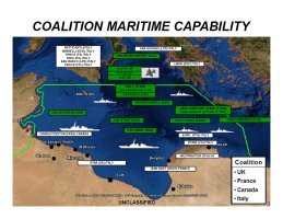 Graphic of Operation Odyssey Dawn's Maritime Capability