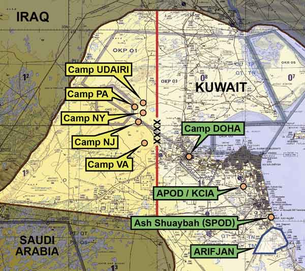 On Point The United States Army In Operation Iraqi Freedom - Us bases in kuwait map