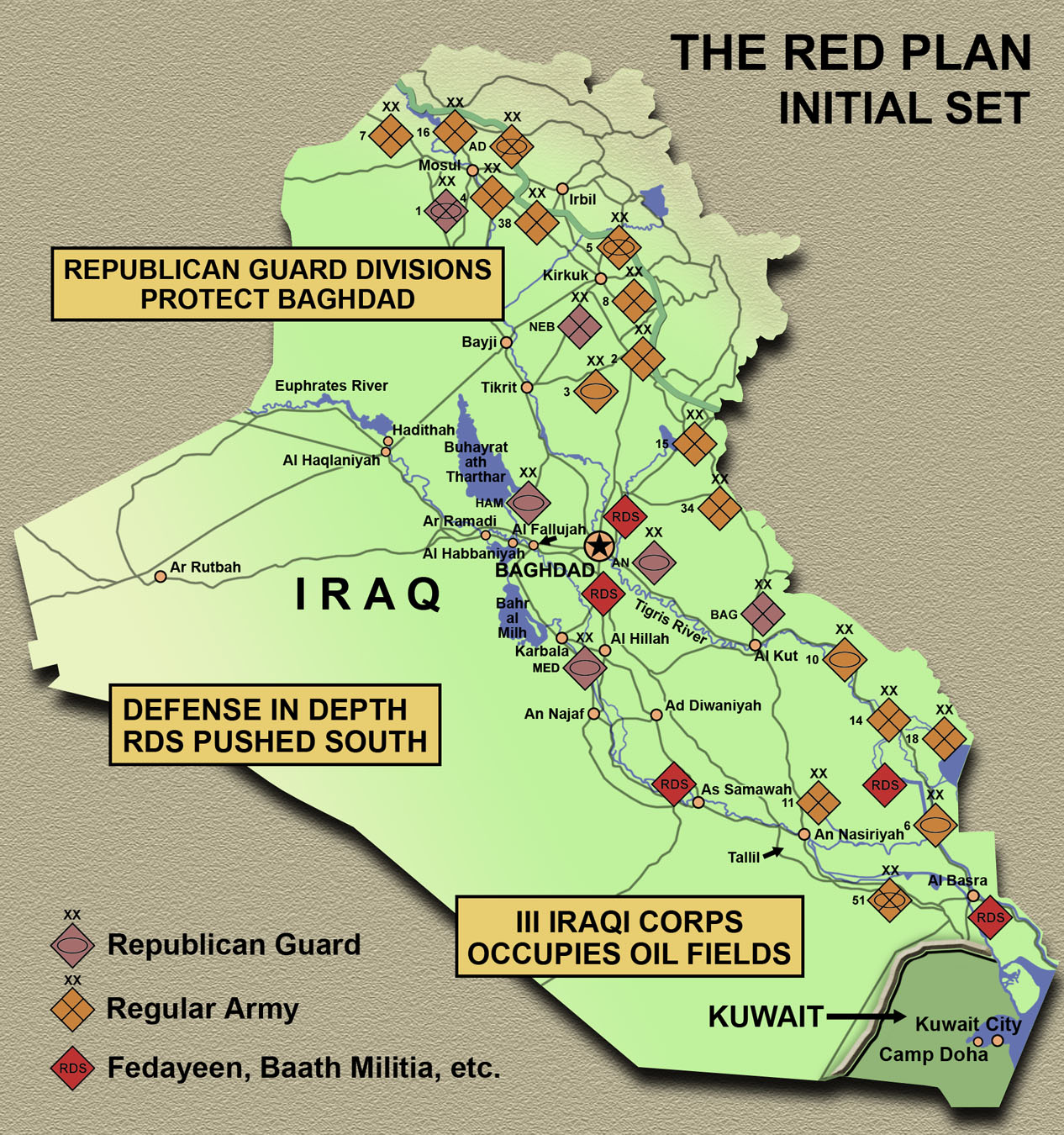 On Point The United States Army In Operation Iraqi Freedom - Iraq distance from us map