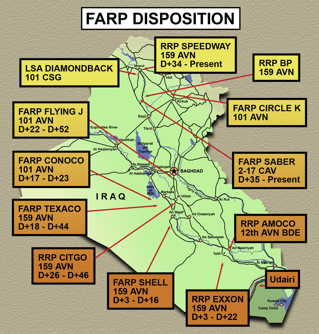 On Point The United States Army In Operation Iraqi Freedom - Map of iraq us military bases