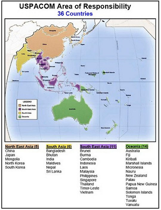 CALL Newsletter Multinational Operations Newsletter - Us and pacific countries maps