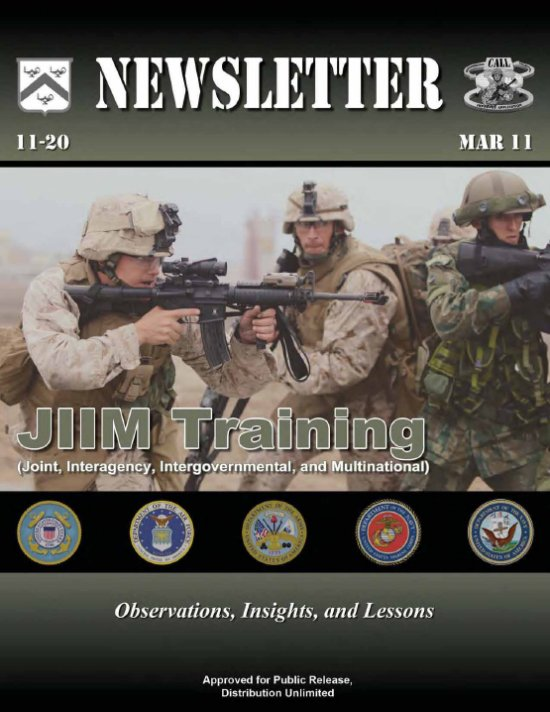 CALL Newsletter Achieving Excellence In SmallUnit Performance - Training newsletter template