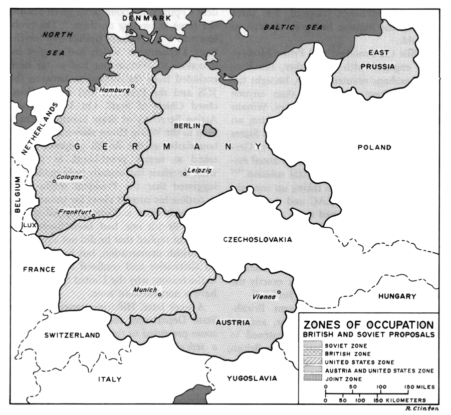 Map Of Germany Occupation Zones.Chapter Ix Tripartite Agreements
