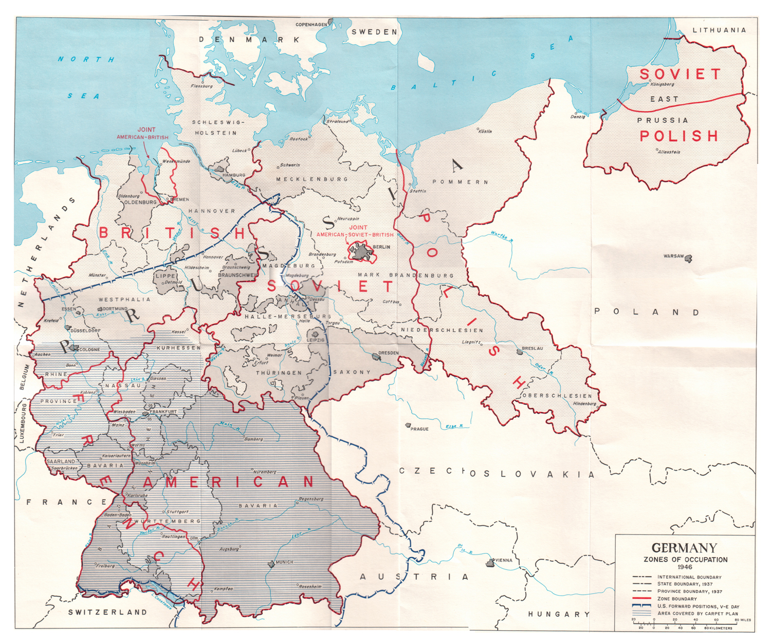 Map Of Germany 1944.Allies Occupation Zones Of Germany In 1945 Os 1206x1024 Mapporn