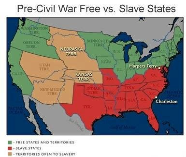 an analysis of slavery in united states northern and southern Unit 5 study guide  between britain and the united states over  1800 to 1860 a factor in the relationship between the northern and the southern states.