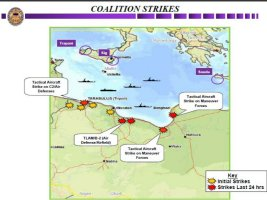 Map showing approximate location of additional strikes against SA2, SA3 and SA5 sites