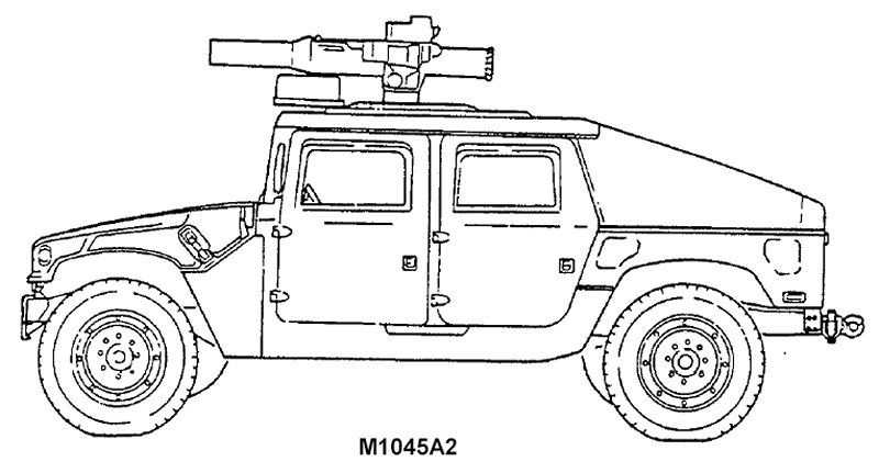 m1045 hmmwv tow missile carrier w   supplemental armor