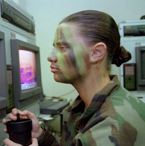 Army Paints Face