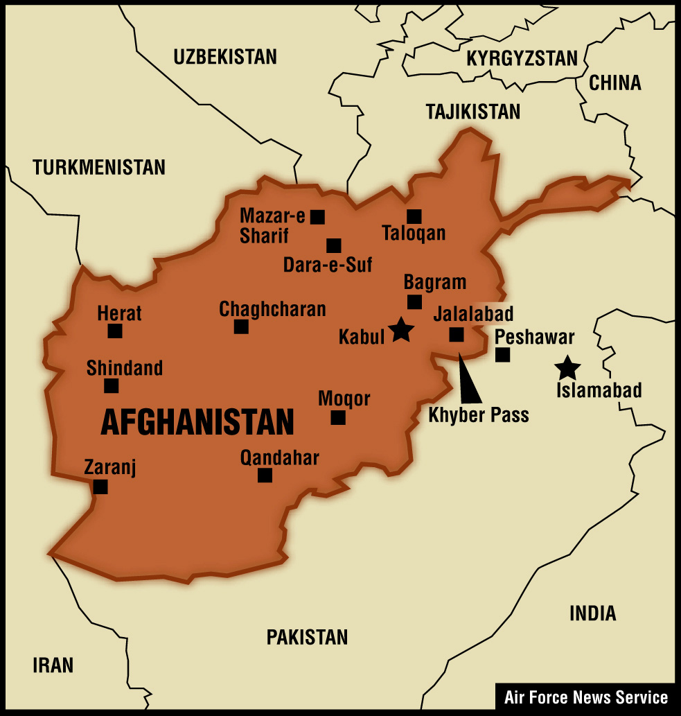 Afghanistan Map Of War August   Talibans Disunity Hasnt - Map us bases middle east