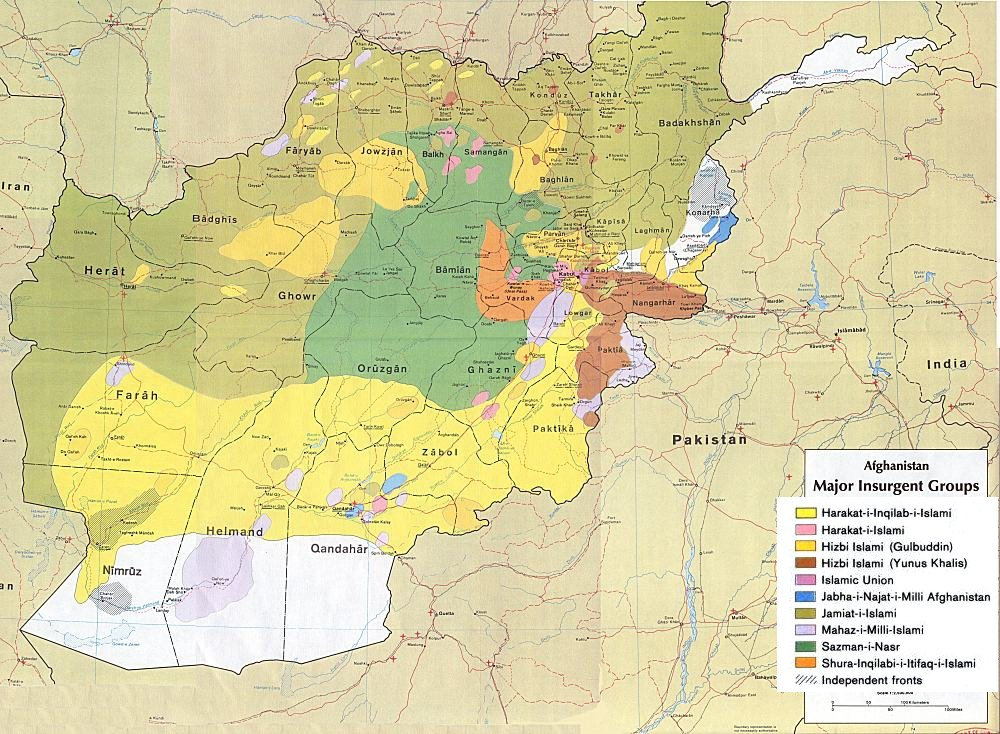 RRT Background Paper Afghanistan Political Parties And Insurgent - Afghanistan taliban dostums massouds map