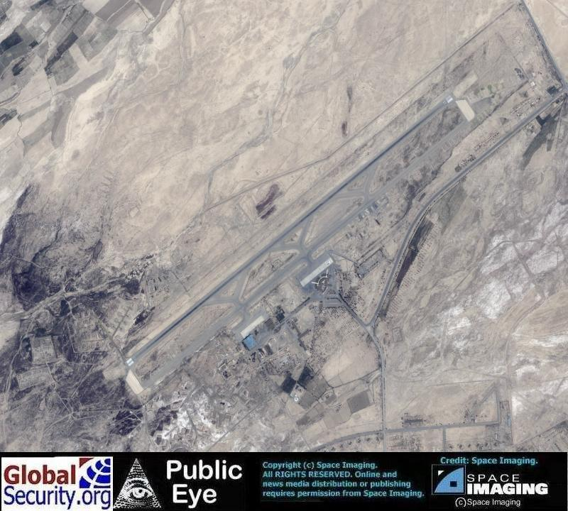 Overview of kandahar airfield before airstrikes began image date 23