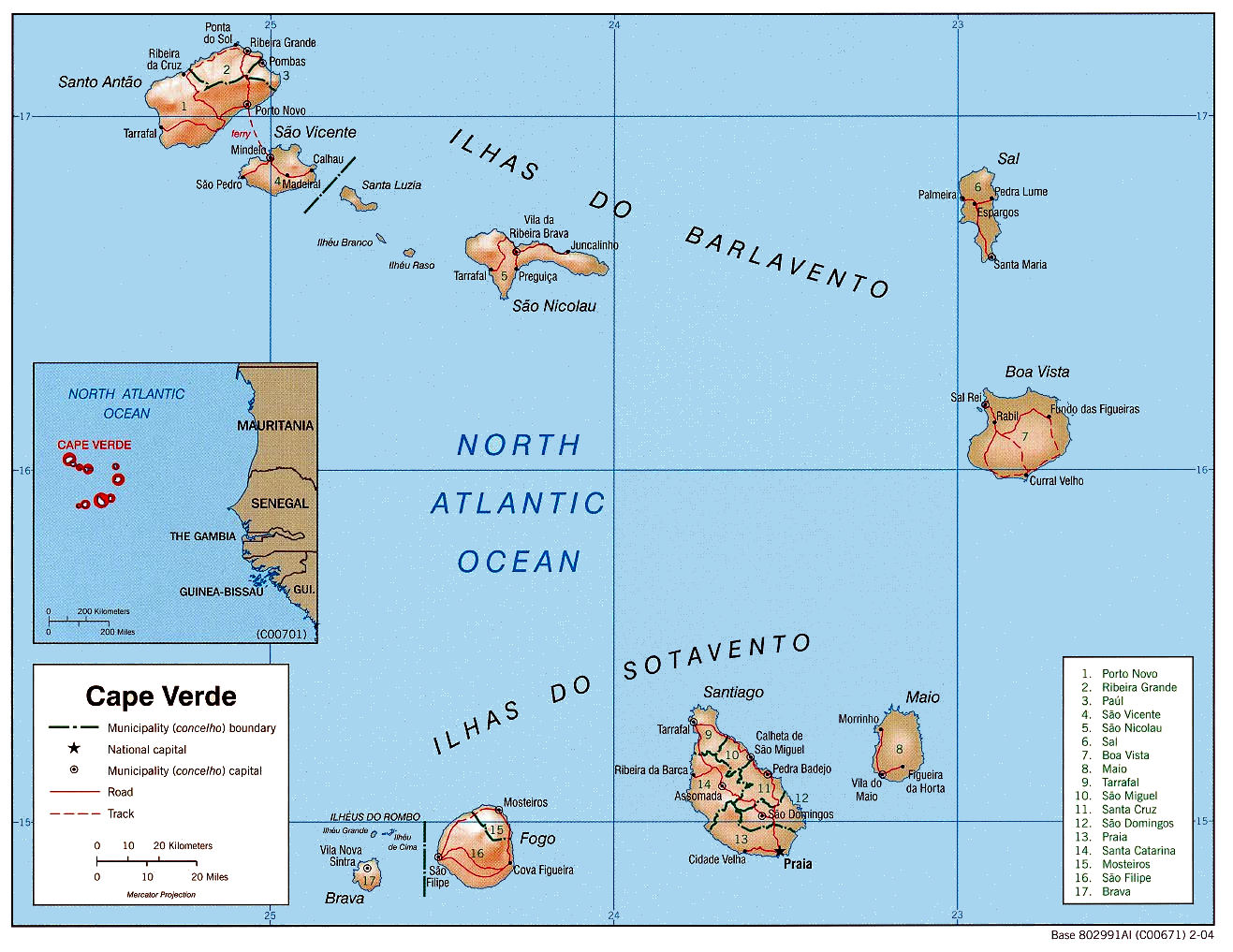 cape verde map cape verde location on the africa map cape verde