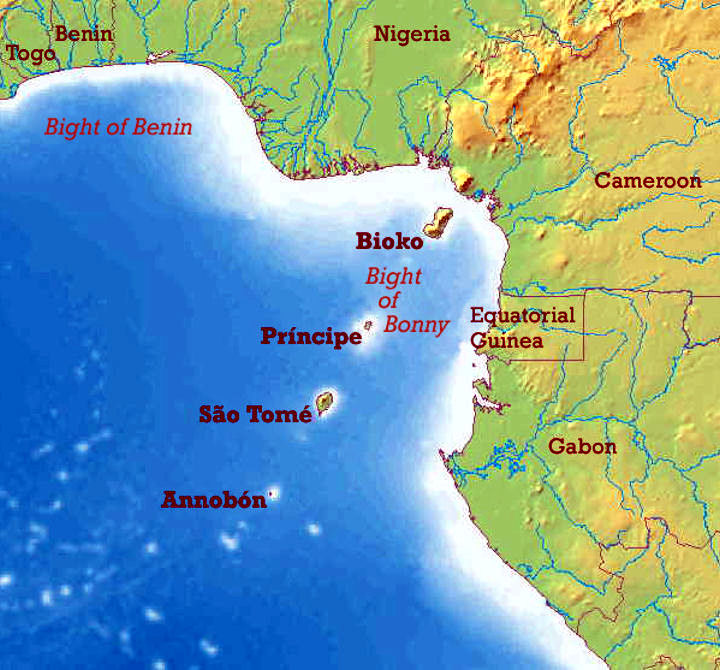 sao tome and principe on africa map Sao Tome E Principe Geography sao tome and principe on africa map