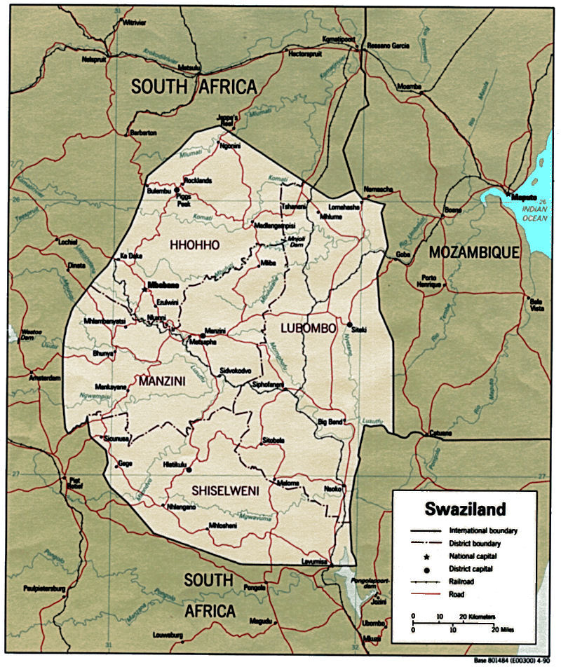 Swaziland Maps - Swaziland map