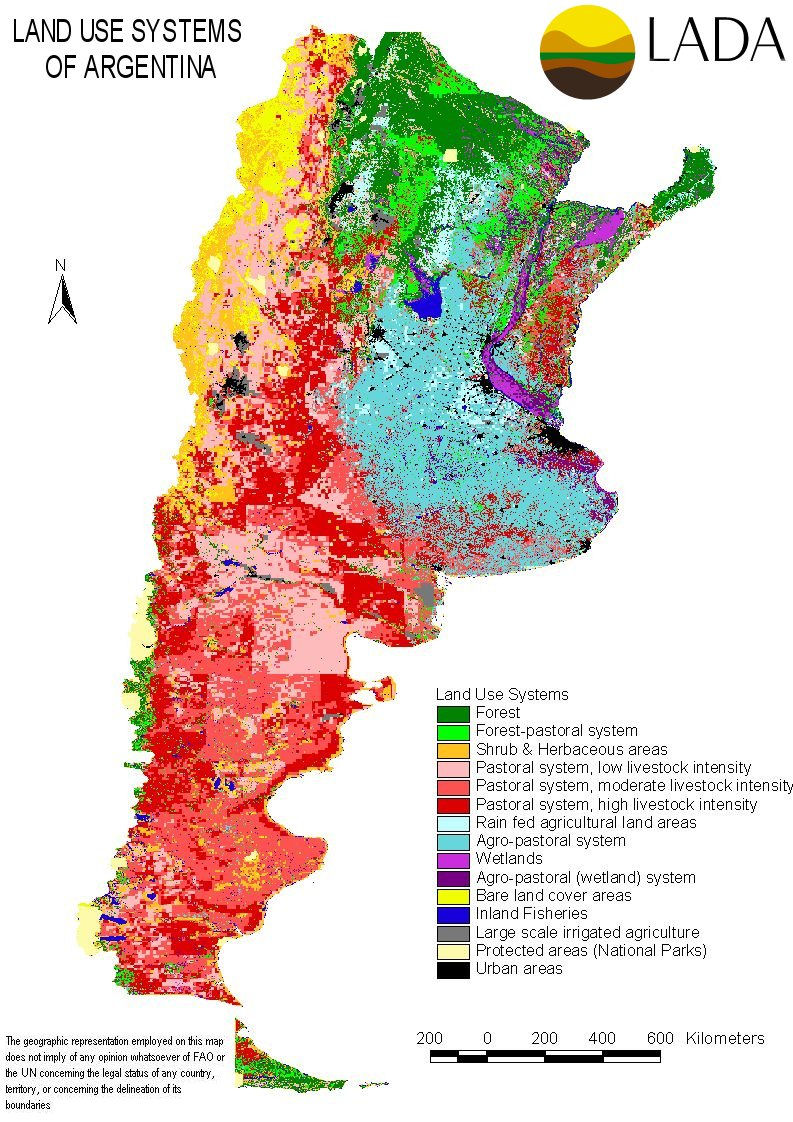 Argentina Maps - Argentina agriculture map
