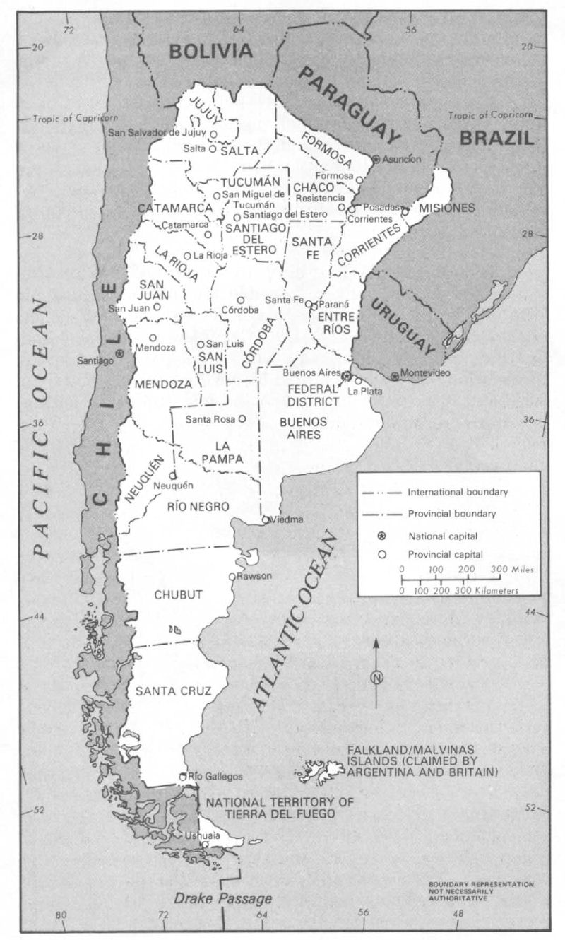 Argentina Maps - Argentina map black and white