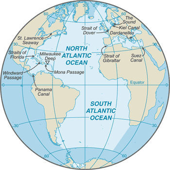 Atlantic ocean islands the atlantic ocean is only slightly larger than half the size of the pacific ocean the atlantic ocean lies between north and south america on the west and gumiabroncs Gallery