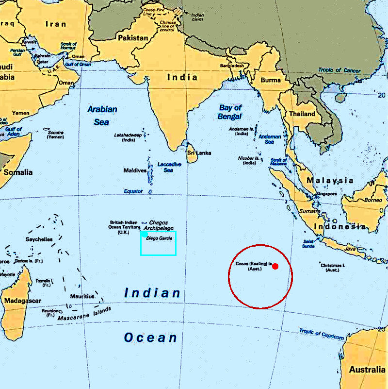 Where Is Cocos Island On The Map