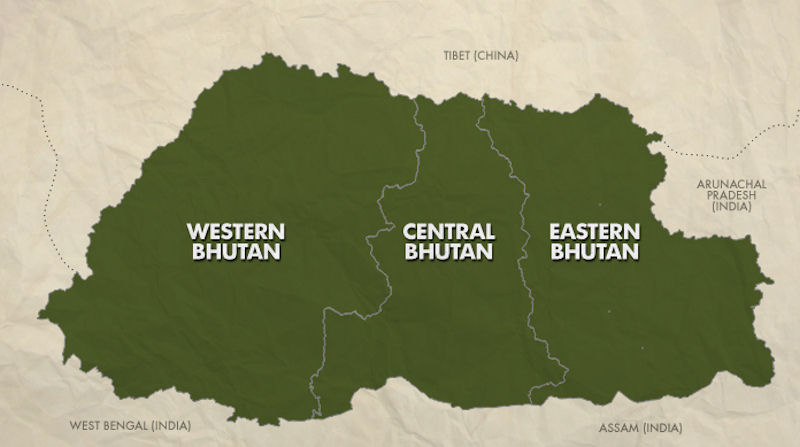 Image result for western bhutan map