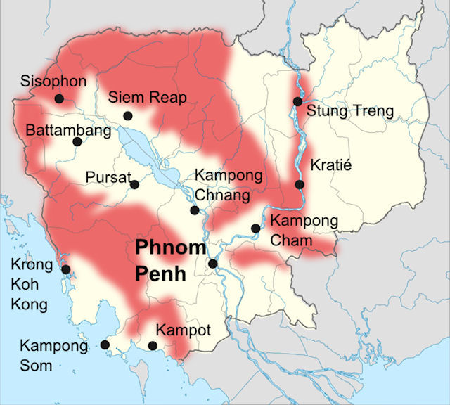 Khmer Rouge Map The Khmer Rouge   Cambodia