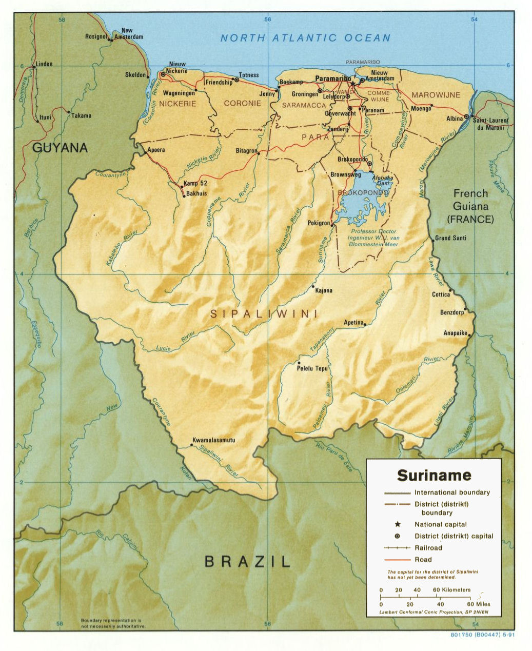 Suriname Maps - Where is suriname on the map