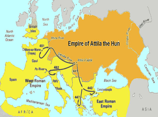 a history of the huns and attila the hun Attila the hun born about 400, attila succeeded a series of hunnish chieftains of  varying  attila ruled jointly over the huns with his brother, bleda, from 434 until  445,  next10 legendary historical swords that actually exist.
