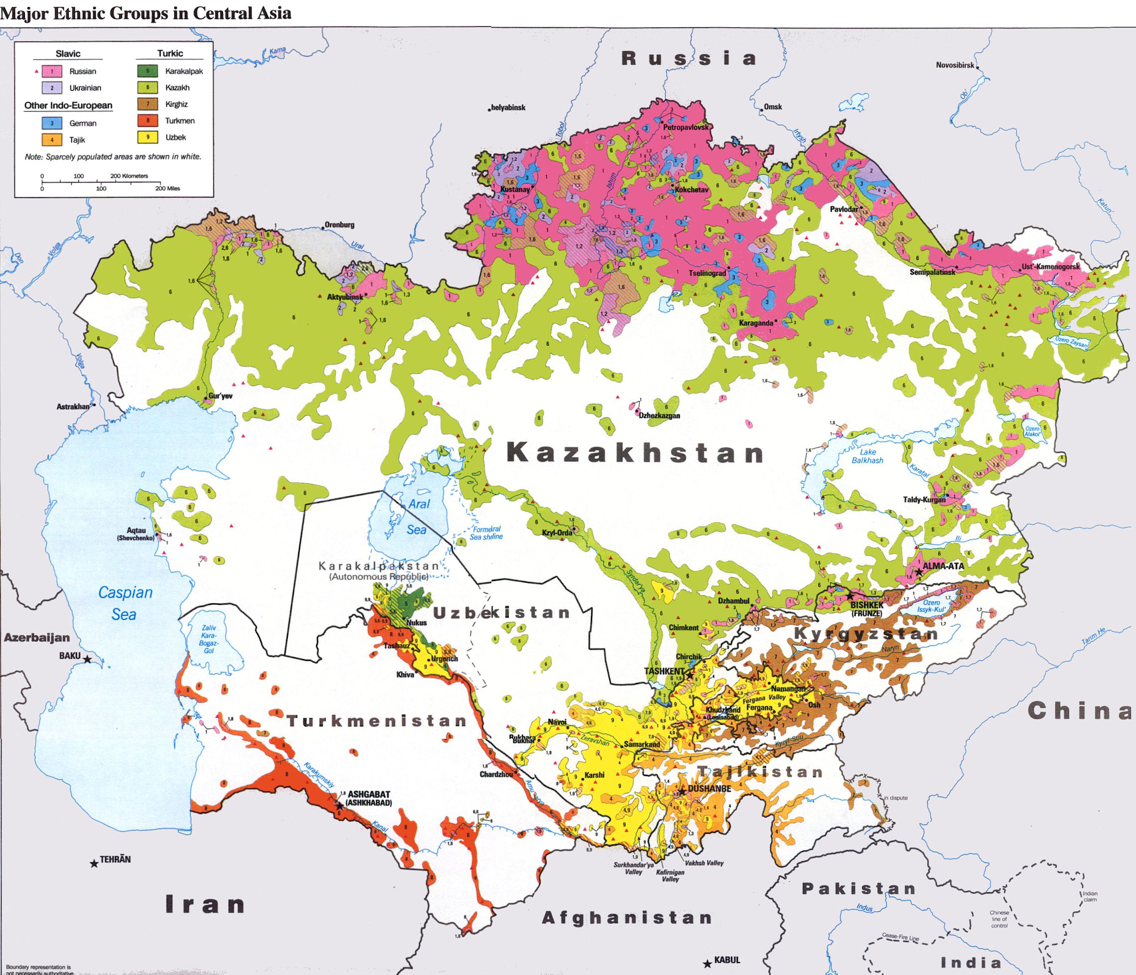 Central Asian Maps
