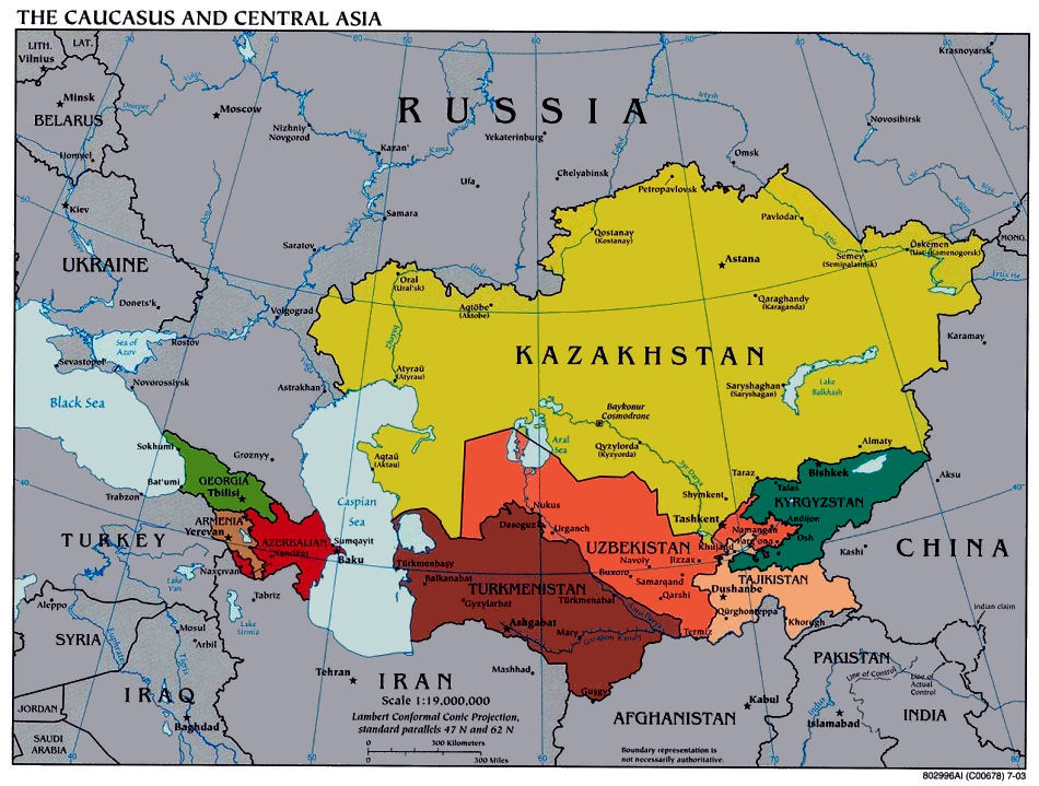 Central Asian Maps – The Asian Map