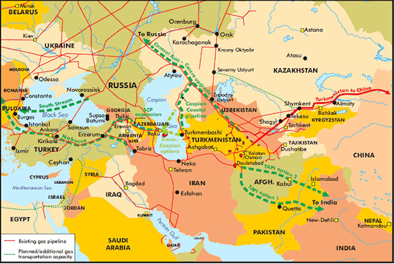 Central Asia Gas Pipelines