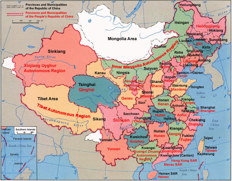 China Maps - China map