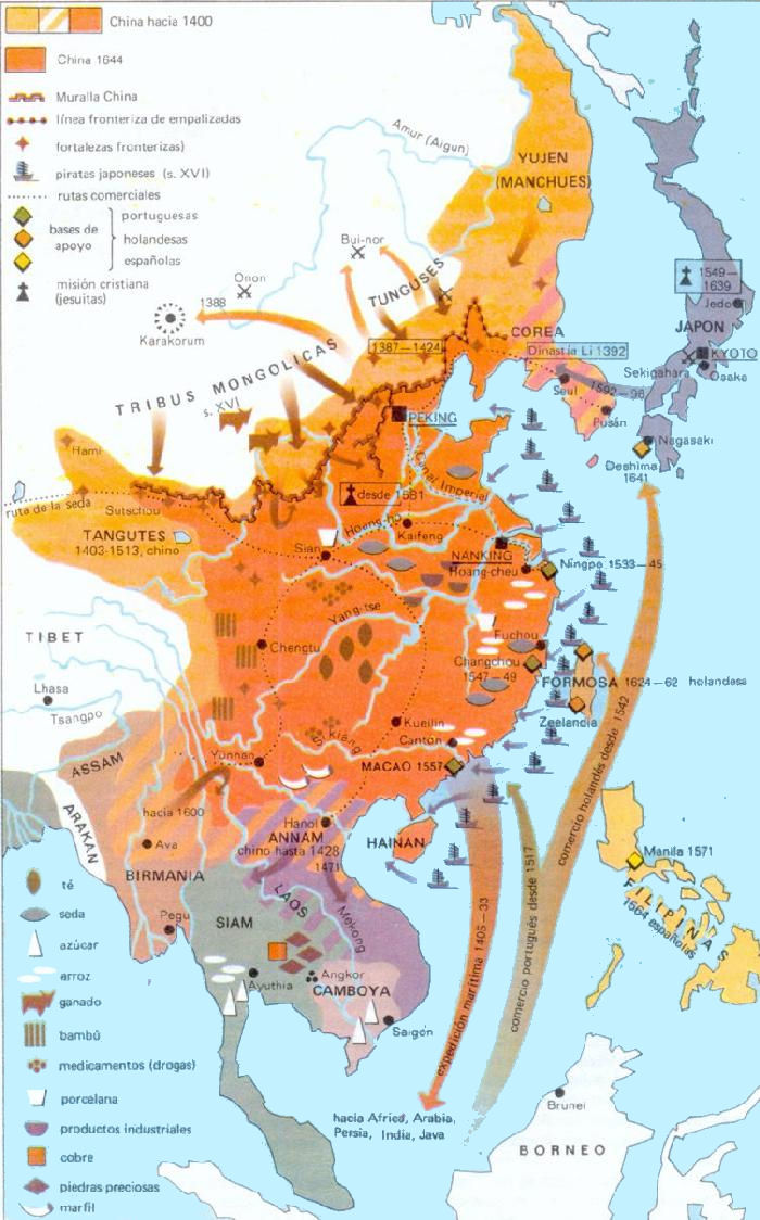 ... China History Map - 1644 Ming ...