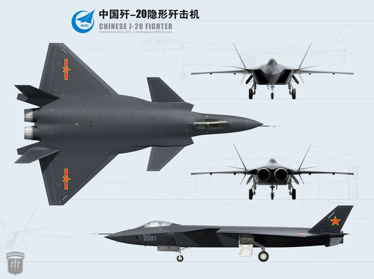 J-20 (Jianjiji-20 Fighter aircraft 20) / F-20 Chinese Stealth Fighter