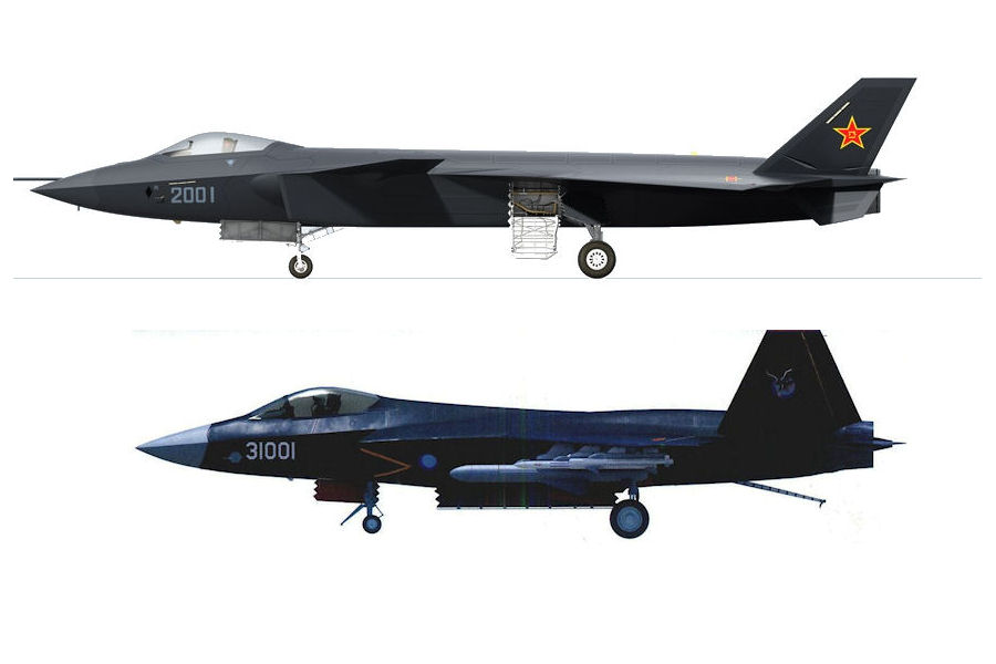 Chinas J31 Stealth Fighter Then And Now  Popular Science