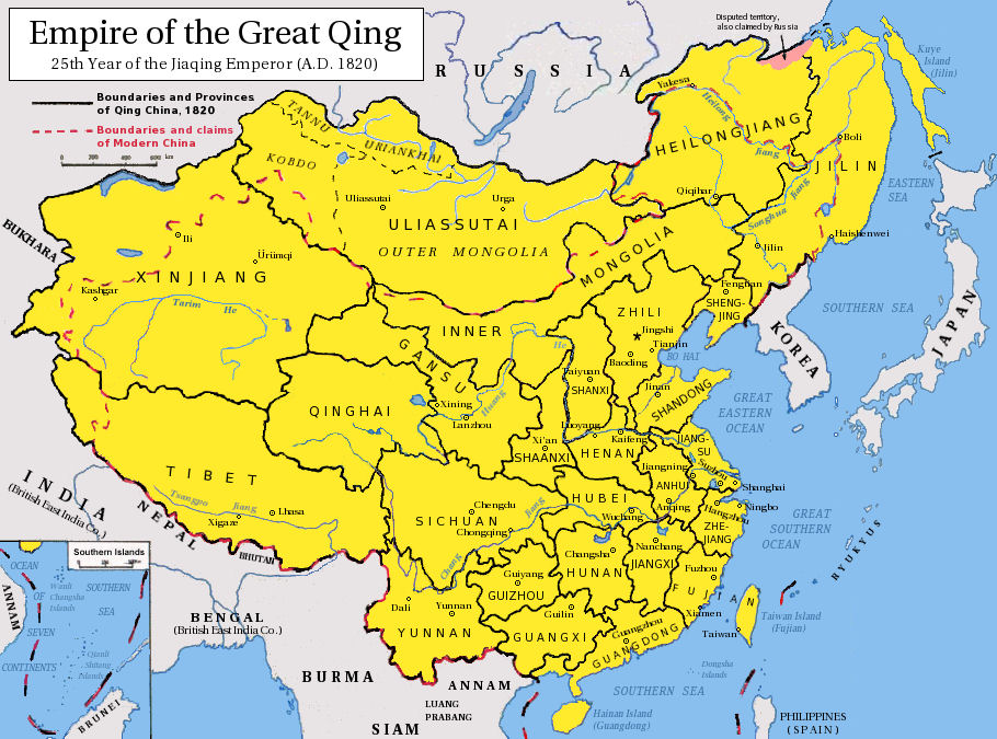 China History Maps Qing Ching Manchu - China map