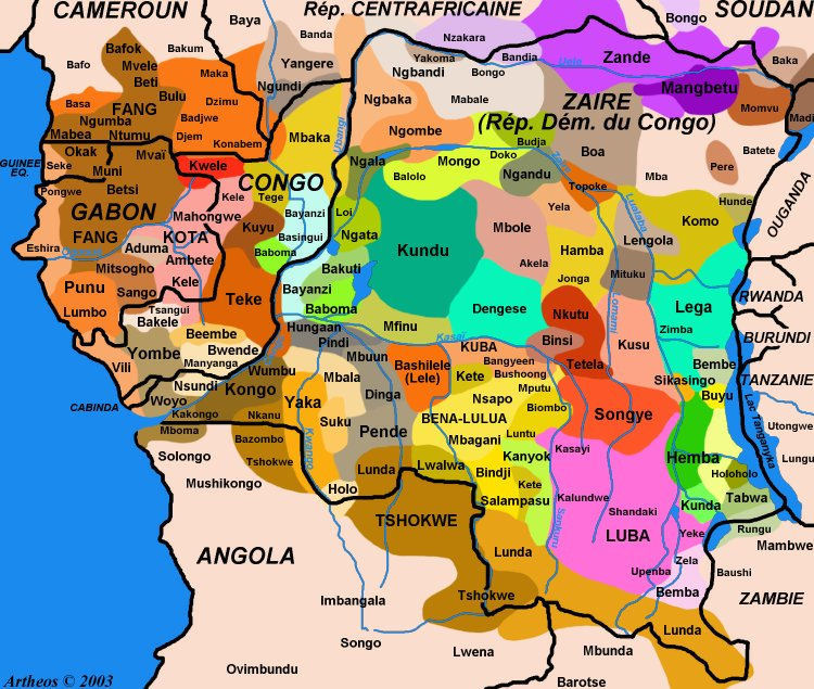 DR Congo Bantu Speakers of the Congo River Basin and Its Environs on west africa physical map, amazon river on world map, africa kasia river map, kenya and zaire map, congo river on world map, kongo empire map, the country of zaire map, bihe plateau on the map,
