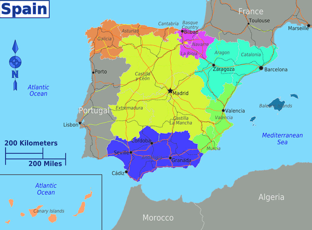 Opinions on Nationalities and regions of Spain