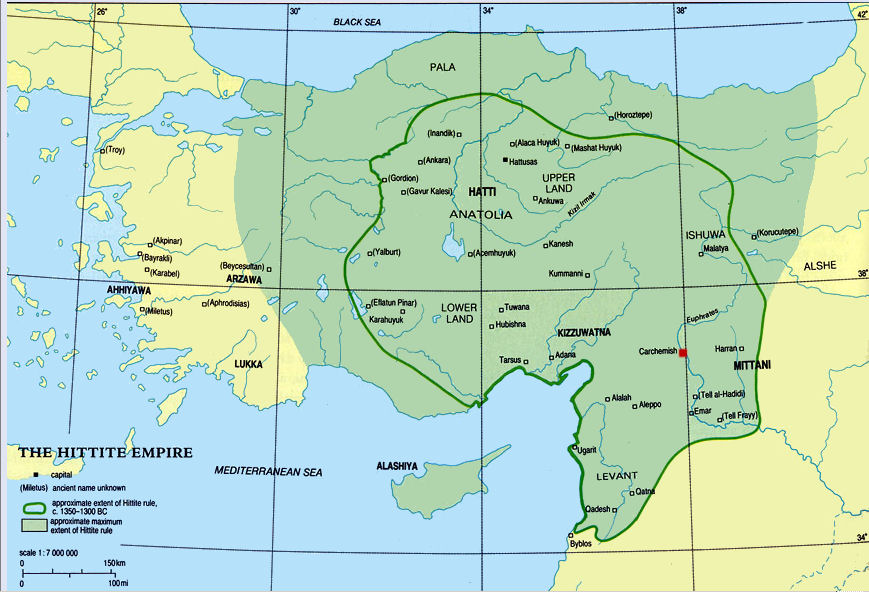 Hittite Kingdom BC BC - Map of egypt 2000 bc