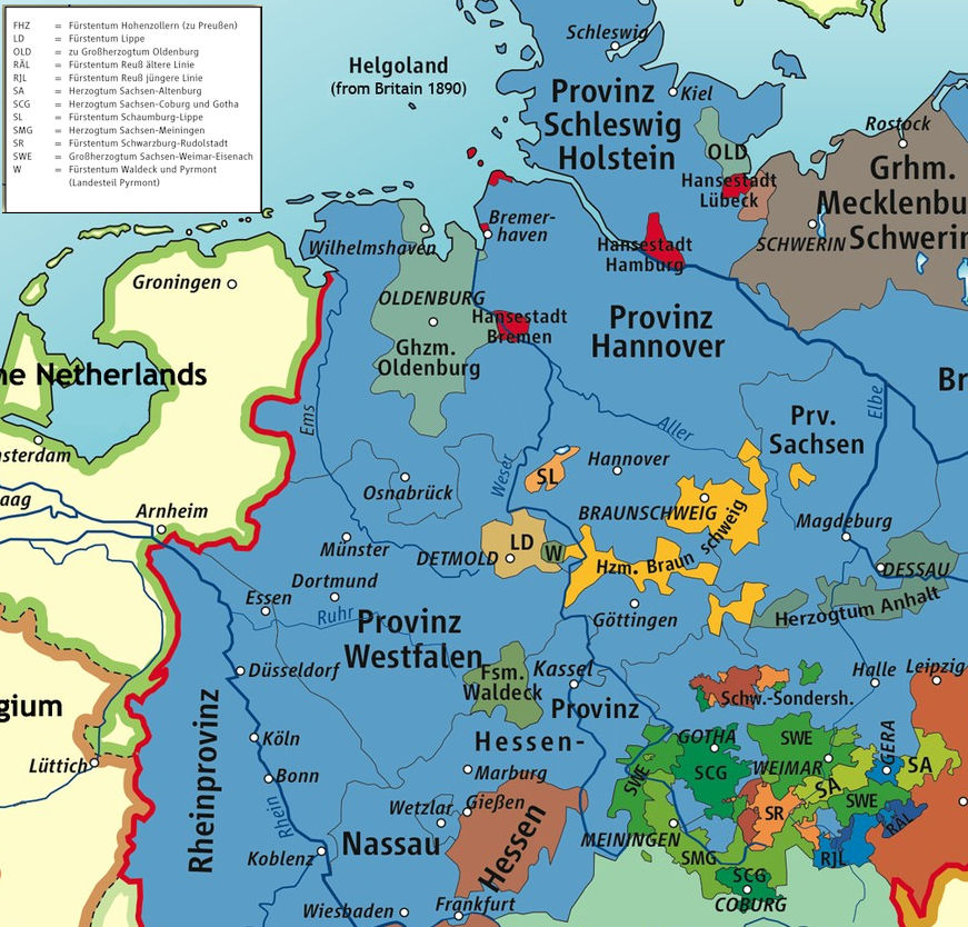 Map Of Germany 1870.German Confederation 1815 1870