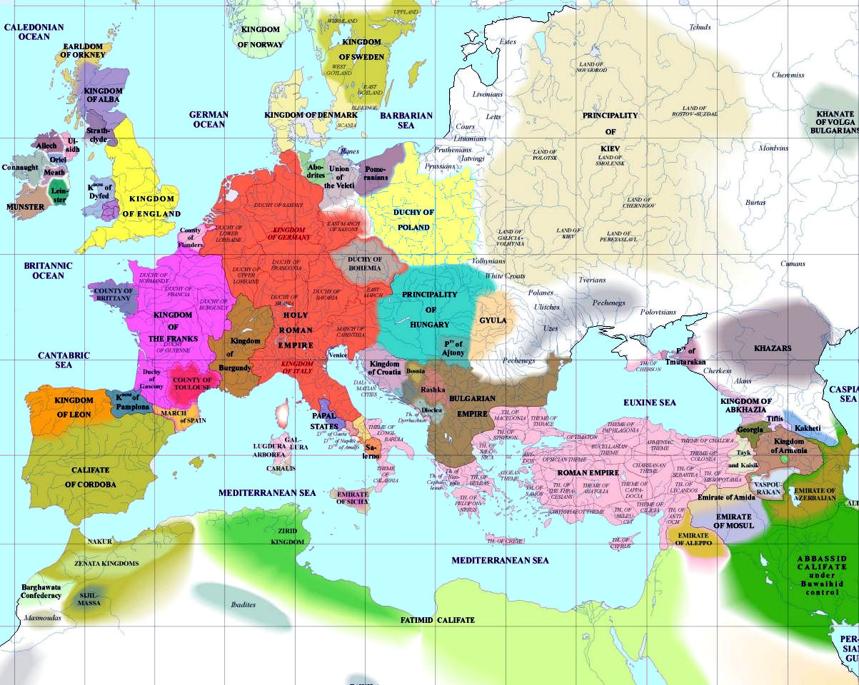 Map Of Europe In 1000.European History Maps